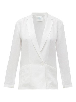 LOUP CHARMANT saint denis single-breasted linen blazer