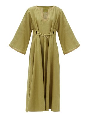 LOUP CHARMANT skorpios belted linen maxi dress