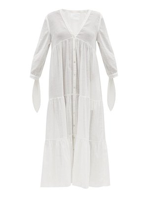 LOUP CHARMANT tonino tiered cotton lace-jacquard midi dress