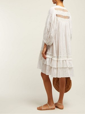 Love Binetti tiered eyelet cotton mini dress