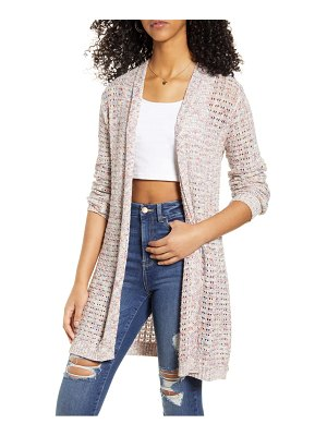 Love By Design rainbow open front cardigan