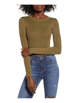 Love By Design skivvy ribbed sweater