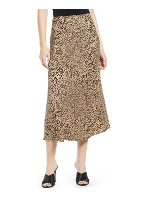 Love, Fire leopard midi skirt