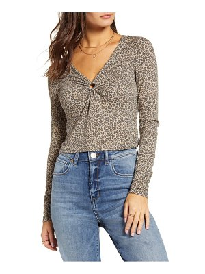 Love, Fire long sleeve o-ring ribbed crop top