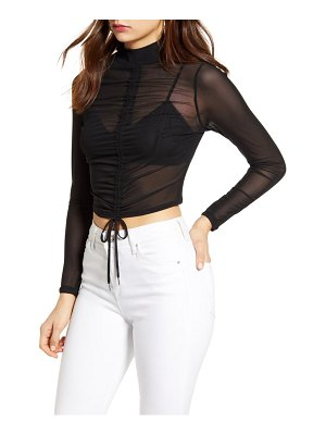 Love, Fire ruched detail mesh top