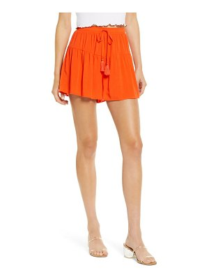 Love, Fire ruffled tiered shorts