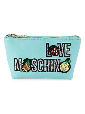 Love Moschino Fruity Love Faux Leather Clutch
