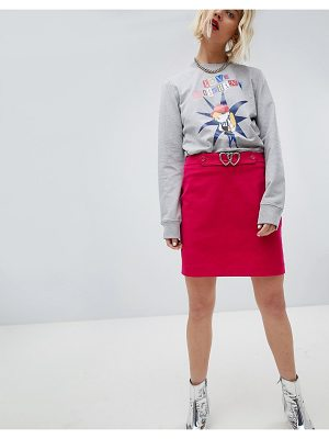 Love Moschino Heart Belted Mini Skirt