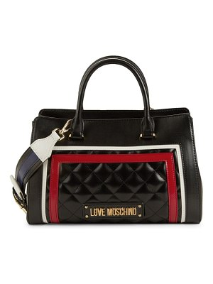 Love Moschino Multicolor Quilted Top Handle Satchel
