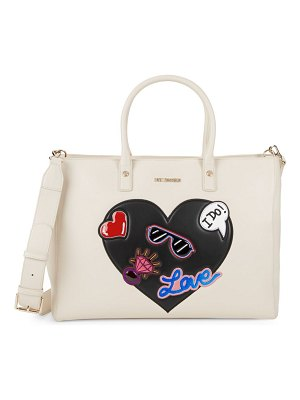 Love Moschino Patch Detail Shoulder Bag