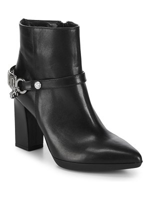 Love Moschino Point Toe Leather Booties