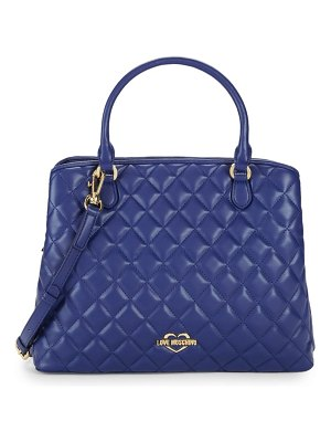 Love Moschino Quilted Satchel