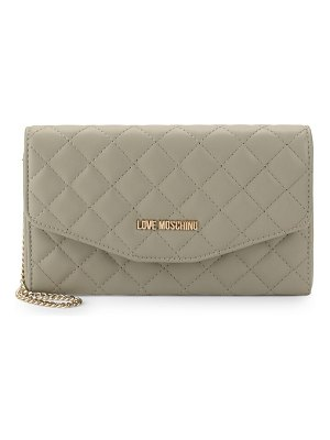 Love Moschino Quilted Leather Clutch