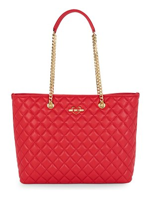 Love Moschino Quilted Leather Shoulder Bag