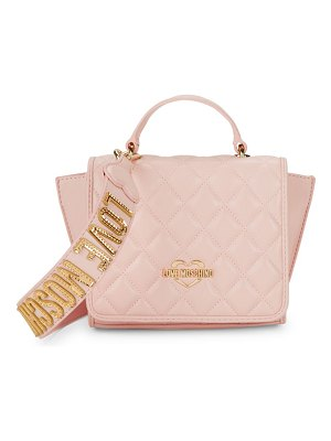 Love Moschino Quilted Logo Strap Satchel