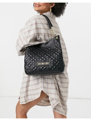 Love Moschino soft quilted shopper bag in black
