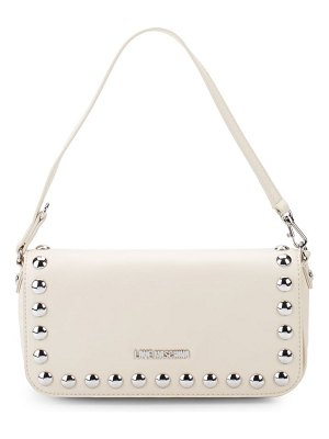 Love Moschino Studded Faux Leather Top Handle Bag