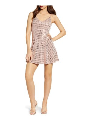 Love, Nickie Lew grid sequin party dress