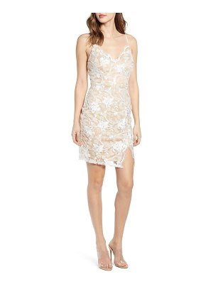 Love, Nickie Lew scallop neck lace slipdress