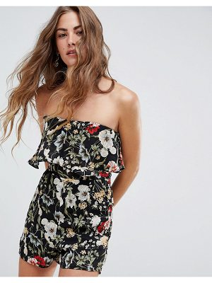Love & Other Things floral bardot romper