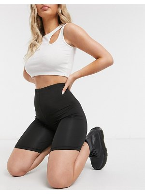 Love & Other Things slinky two-piece legging shorts in black