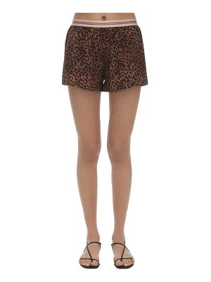 LOVE Stories Sunday leopard print shorts