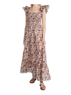 Love The Label smocked bust tiered maxi dress