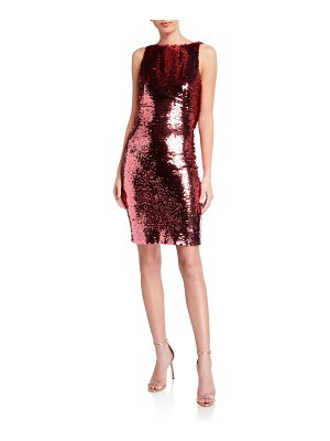 Love, Theia Sequin Cowl-Back Sleeveless Cocktail Dress