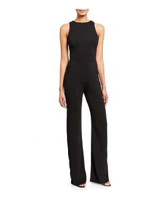 Love, Theia Sequin Lace Illusion Back Sleeveless Crepe Jumpsuit