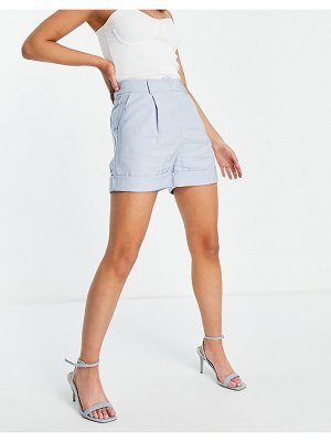 Love Triangle tailored shorts in pale blue-blues