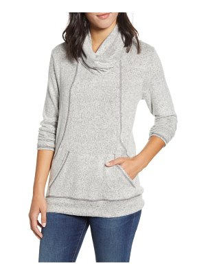 LOVEAPPELLA cross neck seamed pullover