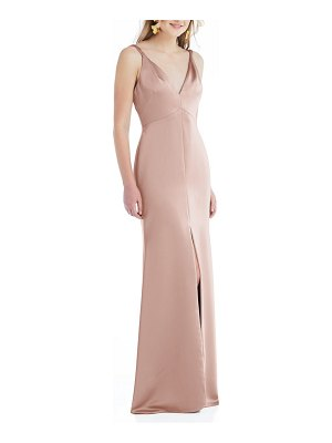 LOVELY neve twist strap satin charmeuse gown