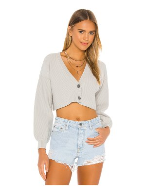 Lovers + Friends cropped ribbed cardigan