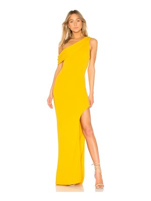 Lovers + Friends marigold gown