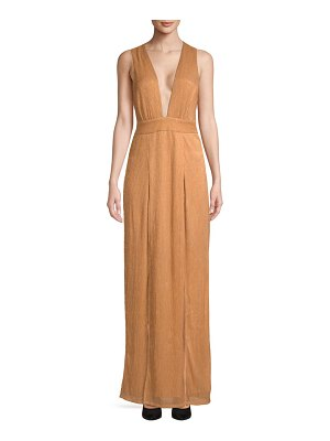 Lovers + Friends Naomi Deep-V Slit Gown