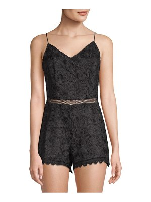 Lovers + Friends Songbird Bow-Back Lace Romper