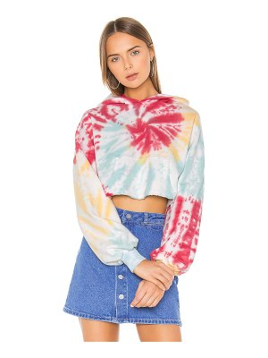 Lovers + Friends tie dye crop hoodie