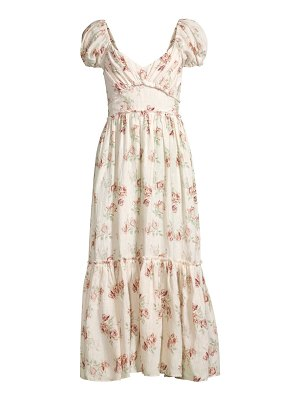 LOVESHACKFANCY angie cotton floral maxi dress