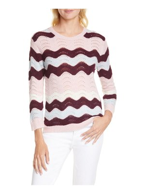 LOVESHACKFANCY ariella zigzag alpaca & wool blend sweater