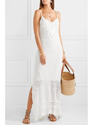 LOVESHACKFANCY bethan crocheted lace and embroidered cotton-mesh maxi dress