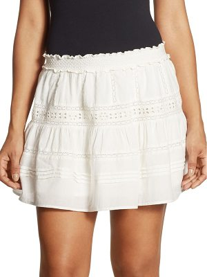 LOVESHACKFANCY Botanic Victorian Cotton Mini Skirt