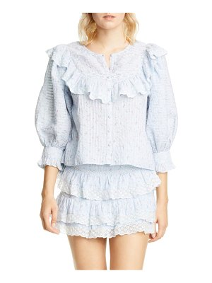 LOVESHACKFANCY canna ruffle top