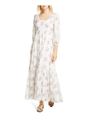 LOVESHACKFANCY colby floral cotton maxi dress