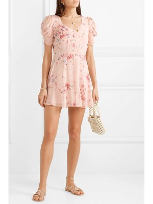 LOVESHACKFANCY cora floral-print silk-georgette mini dress