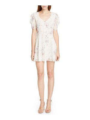 LOVESHACKFANCY cora floral silk minidress