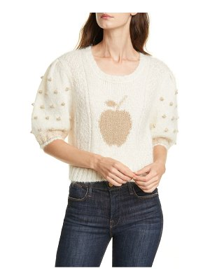 LOVESHACKFANCY cyrielle mohair & wool blend crop sweater