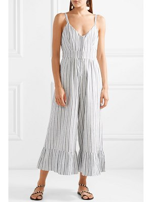 LOVESHACKFANCY edeline striped cotton-voile jumpsuit