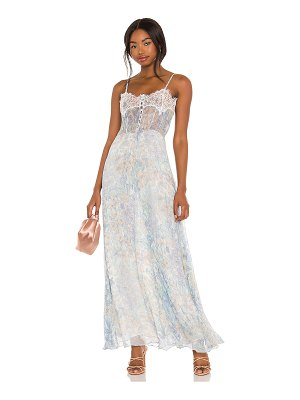 LOVESHACKFANCY elma slip dress