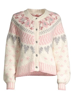 LOVESHACKFANCY jamie fair isle cardigan