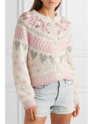 LOVESHACKFANCY jamie fair isle knitted cardigan